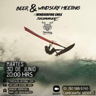 Amigos que les gusta el windsurf en olas ‼️🤟🤙🌊 @windsurfingchile y @hotelsurazo  Los queremos invitar el martes 30 de junio  a las 20:00 hrs a una junta vía zoom con una cerveza 🍻 helada 😉 •Veremos el 🎥 @topocalmainfernal 2019 •Además veremos el pre encargo @severnesails 2021 velas Wave •Premios sorpresas !  Los esperamos 🤙