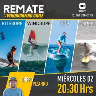 Vuelven los remates vía zoom !🔥este miércoles 2 de diciembre a las 20:30 hrs / productos nuevos de windsurf - kitesurf - surf - stand up paddle . Aprovecha  esta gran oportunidad de comprar al mejor precio 🤙