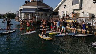 Gran día de entrenamiento de Sup !!! Súmate todos los miércoles a esta gran experiencia además de cortar la semana en el agua 🤙