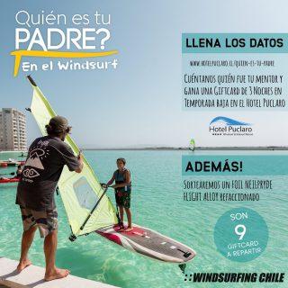 Tenemos sorteo !!! 🔥🔥🔥 QUIEN ES TU PADRE EN EL WINDSURF ????  Cuéntanos cómo y con quien aprendiste este maravilloso deporte  Cómo participar ?  Completa la encuesta en este link : http://www.hotelpuclaro.cl/quien-es-tu-padre/ No te pierdas esta manera entretenida de ganarte noches en el gran @hotelpuclaro premios para los maestros 👨🏫 y los alumnos 👨🎓  Además ! Sortearemos un foil de windsurf usado 😱  Fecha termino del sorteo 1 de agosto.