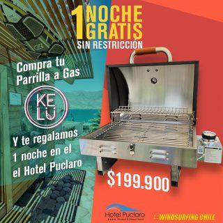 Por la compra de una parrilla 🔥🔥@kelubarbecue en @windsurfingchile obtendrás una noche gratis en @hotelpuclaro 😱🙌 que estás esperando para venir por la tuya ?