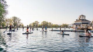 Algunas de las imágenes que nos dejo el miércoles de entrenamiento y clínicas de Sup en la Laguna de piedra roja 🙌❤️🏄♂️ nos vemos el próximo miércoles 😎 📸: @tomalarconluco @nauticopiedraroja